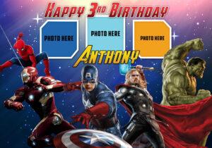 Avengers Birthday Tarpaulin Template | Dioskouri Designs in Avengers Birthday Card Template