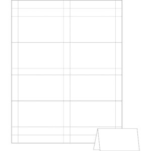 Avery Small Tent Card, White, 2 X 3 1/2, 4 Cards/sheet, 160/box regarding Tent Card Template Word