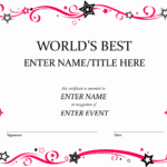 Award Certificate Template Free Best Of Free Funny Award Regarding Funny Certificate Templates