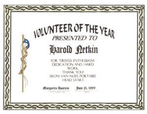 Award for Volunteer Of The Year Certificate Template
