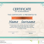 Awesome Collection For A4 Size Certificate Templates About With Regard To Certificate Template Size