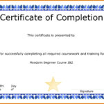 Awesome Collection For Class Completion Certificate Template For Class Completion Certificate Template