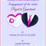 Awesome Engagement Invitation Cards Image Of Invitation Card For Engagement Invitation Card Template