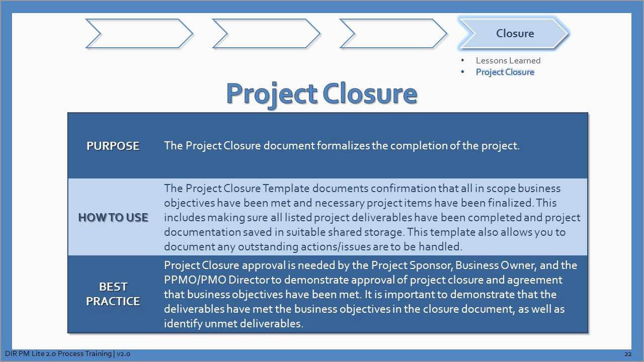 Awesome Project Closure Report Template Free | Best Of Template In Project Closure Report Template Ppt