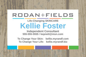Awesome Rodan And Fields Business Cards Vistaprint intended for Rodan And Fields Business Card Template