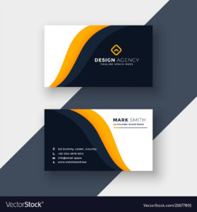 Awesome Yellow Business Card Template regarding Visiting Card Illustrator Templates Download