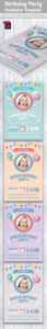Baby Birthday Card Design Template Indesign Indd | Card in Indesign Birthday Card Template