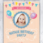Baby Birthday Card Design Template Indesign Indd | Card Throughout Birthday Card Indesign Template