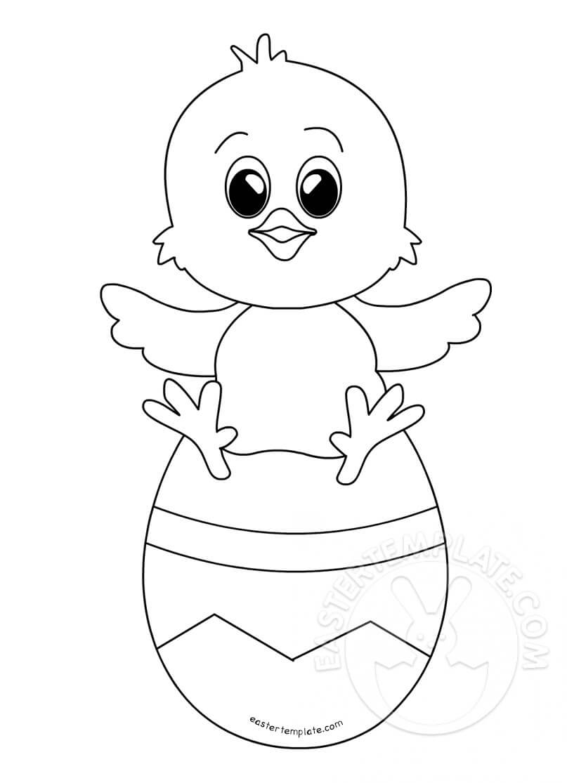 Baby Chick Sitting On Easter Egg | Easter Template Regarding Easter Chick Card Template