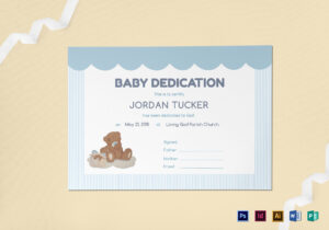 Baby Dedication Certificate Design Template In Psd, Word regarding Baby Dedication Certificate Template
