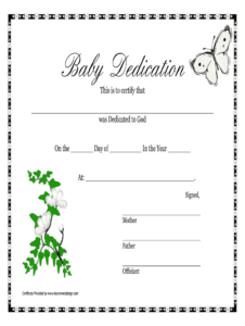 Baby Dedication Certificate Doc – Fill Online, Printable with regard to Baby Christening Certificate Template