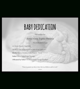 Baby Dedication Certificate Template For Word [Free Printable] throughout Baby Christening Certificate Template
