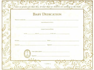 Baby Dedication Certificates | Template Business in Baby Dedication Certificate Template