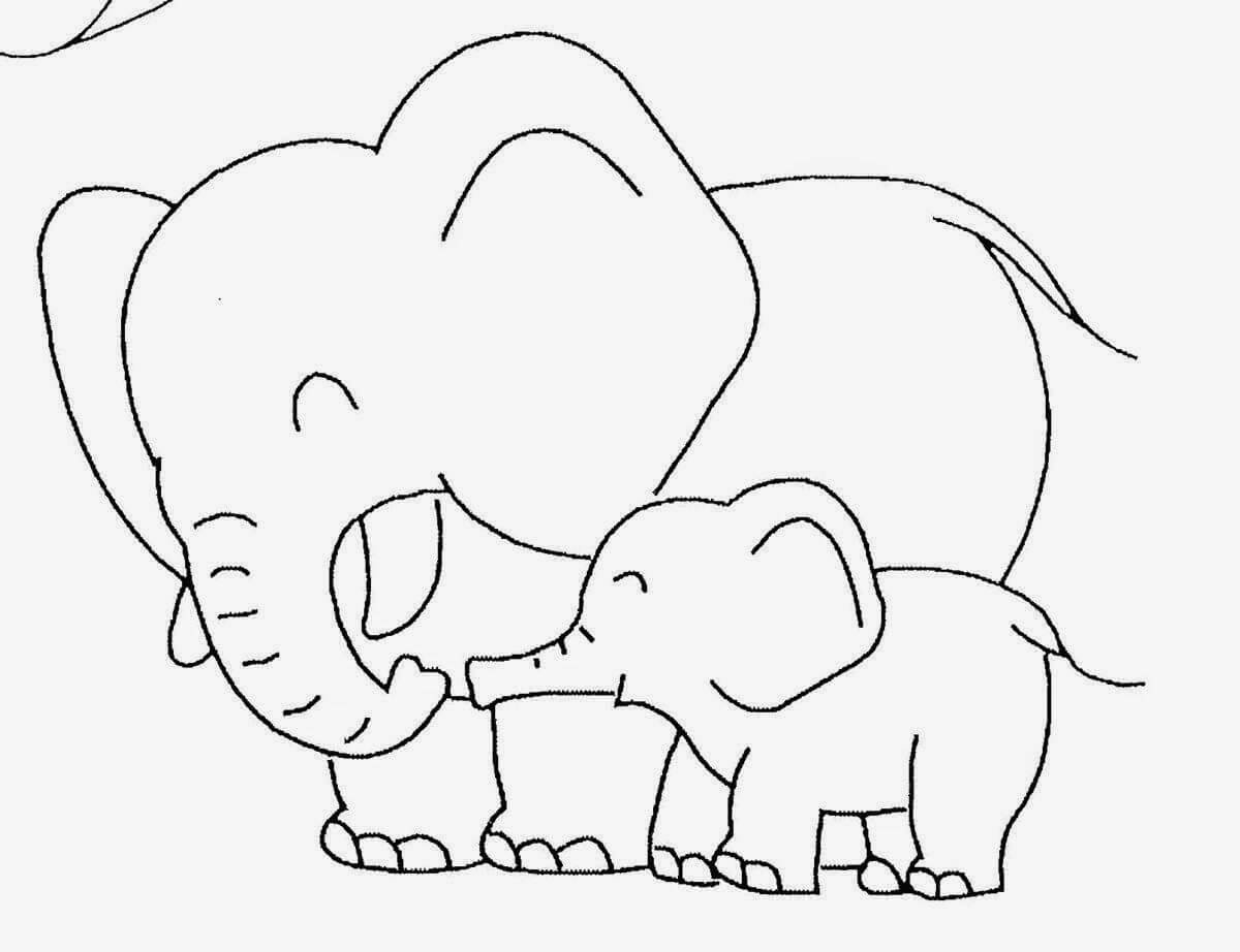 Baby Elephant Template | Baby Elephant Coloring Pictures Throughout Blank Elephant Template
