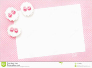 Baby Girl Christening Blank Invitation Template | Invitation intended for Blank Christening Invitation Templates