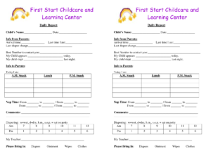 Baby Log Forms – Google Search | Daycare Forms | Infant within Daycare Infant Daily Report Template