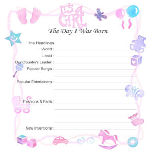 Baby Record Book Printable Pages – Google Search | Baby for Girl Birth Certificate Template