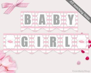 Baby Shower Banner Template Printable Tutu Excited Banner regarding Baby Shower Banner Template