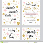Baby Shower Girl Templates Twinkle Twinkle Little Star Text Regarding Template For Baby Shower Thank You Cards