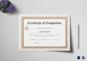 Bachelor Degree Completion Certificate Template inside Doctorate Certificate Template