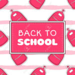 Back To School Banner Template Vector. Cute Girls Concept With.. Inside College Banner Template