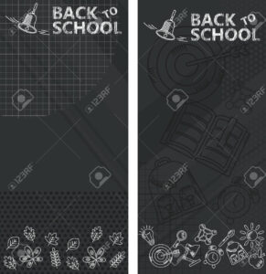 Back To School. Whiteboard In Classroom Poster And Banner Template.. throughout Classroom Banner Template
