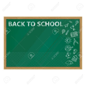 Back To School. Whiteboard In Classroom Poster And Banner Template.. with Classroom Banner Template