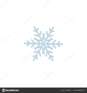 Background: Snowflake Blank | Snowflake Icon Template with Blank Snowflake Template