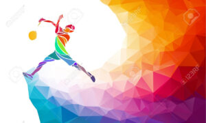Badminton Sport Invitation Poster Or Flyer Background With Empty.. intended for Sports Banner Templates