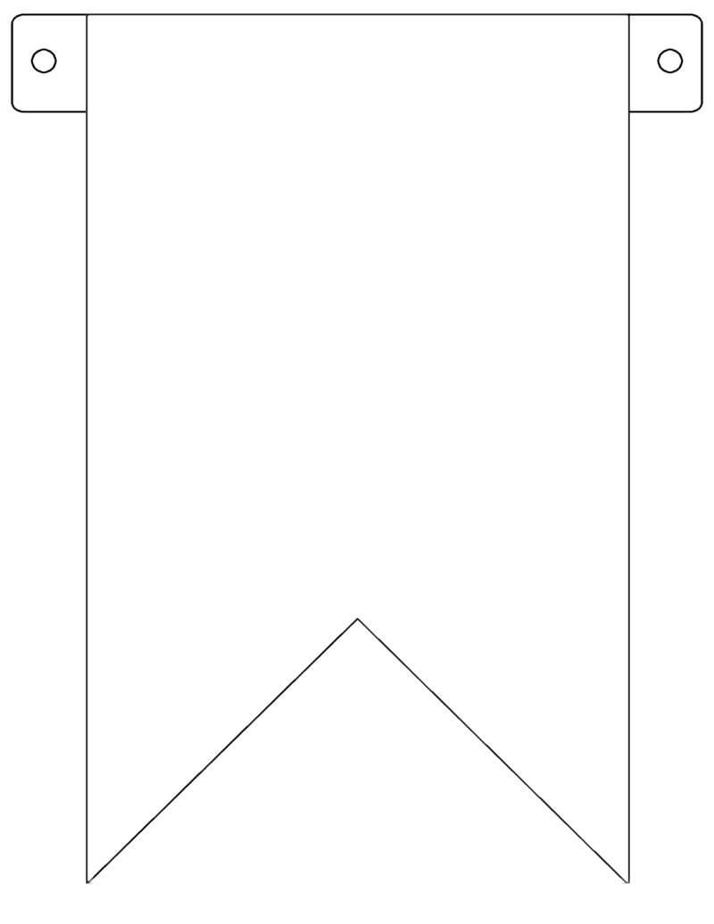Banner Flag Template - Free To Use | House Ideas | Diy regarding Banner Cut Out Template