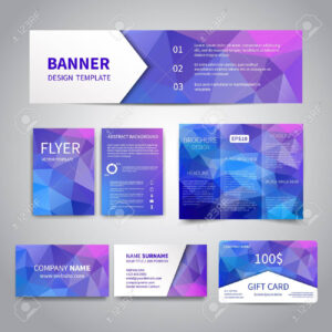Banner, Flyers, Brochure, Business Cards, Gift Card Design Templates.. within Advertising Cards Templates
