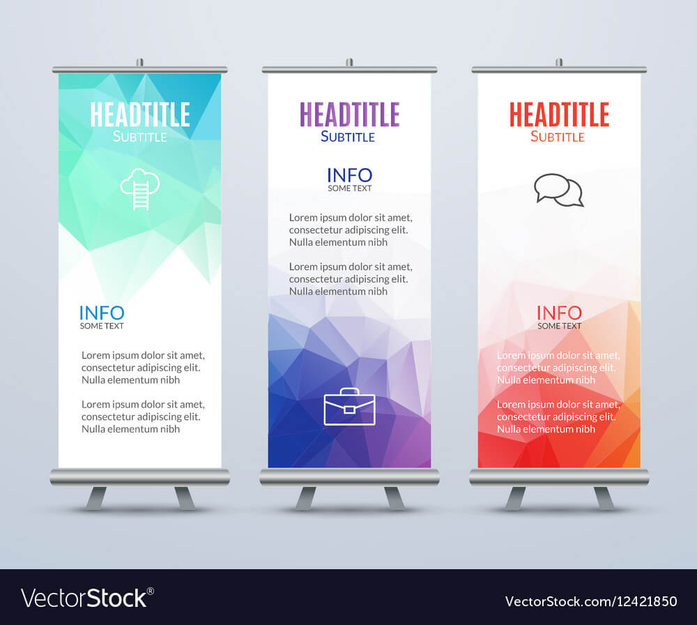 Banner Stand Design Template With Abstract for Banner Stand Design Templates