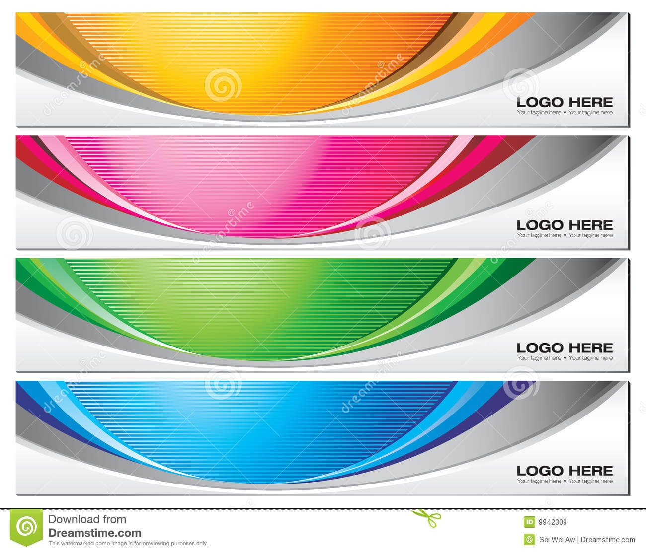 Banner Templates Stock Vector. Illustration Of Vector – 9942309 Regarding Website Banner Templates Free Download