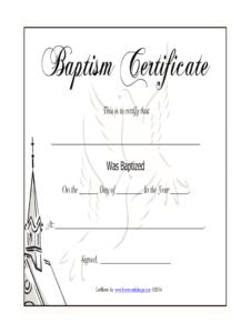 Baptism Certificate – Fill Online, Printable, Fillable for Baptism Certificate Template Download