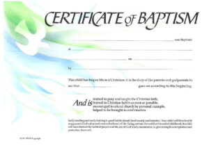 Baptism Certificate Xp4Eamuz | Sunday School | Certificate with Roman Catholic Baptism Certificate Template