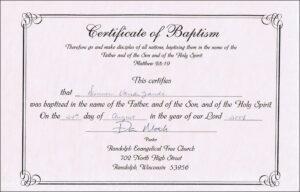Baptism Certificates Free Online | Denver's Certificate Of regarding Baptism Certificate Template Word