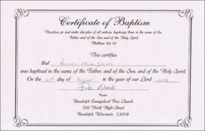 Baptism Certificates Free Online | Denver's Certificate Of throughout Baby Christening Certificate Template