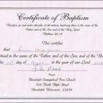 Baptism Certificates Free Online | Denver's Certificate Of with Christian Baptism Certificate Template