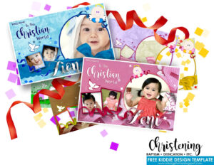 Baptism Christening Dedication Free Design Template Pertaining To Christening Banner Template Free