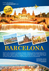 Barcelona Travel Flyer Free Download #2273 | Work | Travel in Travel And Tourism Brochure Templates Free