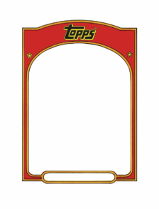 Baseball Card Template Sports Trading Card Templet – Topps For Baseball Card Template Word
