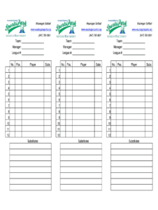 Baseball Lineup Sheets – Fill Online, Printable, Fillable for Baseball Lineup Card Template