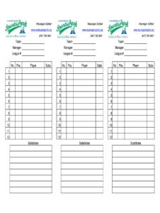 Baseball Lineup Sheets – Fill Online, Printable, Fillable for Free Baseball Lineup Card Template