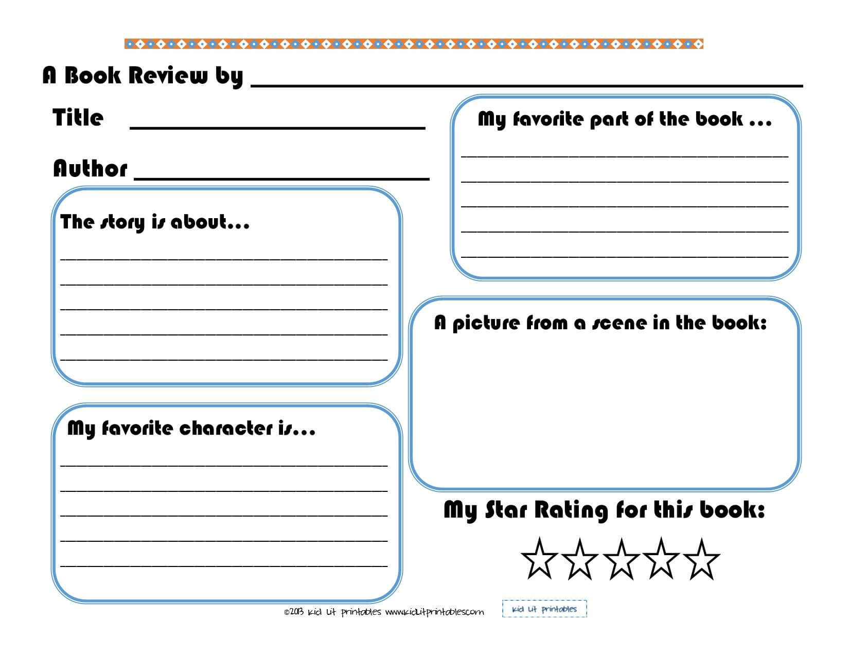 Basic Book Report/review Form | For The Boys | Book Report Throughout 1St Grade Book Report Template