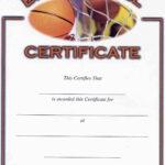 Basketball Award Certificate To Print | Activity Shelter Throughout Basketball Camp Certificate Template