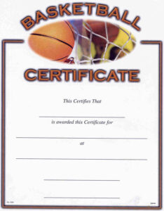 Basketball Award Certificate To Print | Activity Shelter throughout Basketball Camp Certificate Template