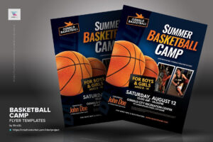 Basketball Camp Flyer Templates #inches#letter#placing inside Basketball Camp Brochure Template