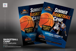 Basketball Camp Flyer Templates #inches#letter#placing intended for Basketball Camp Brochure Template