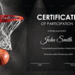 Basketball Participation Certificate Design Template In Psd In Basketball Certificate Template