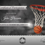 Basketball Participation Certificate Template In Basketball Certificate Template